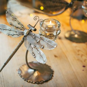 Dragonfly Teal light holder