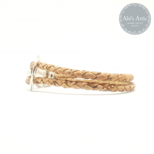 3mm natural braided Portuguese Cork Braceletv