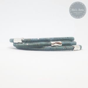 Ladies White 3mm Braided Portuguese Wrap Bracelet and Ladies Grey 3mm Portuguese Bracelet