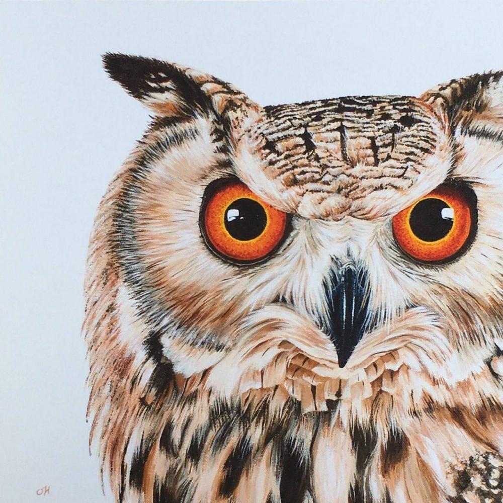 4. Eagle Owl giclée print