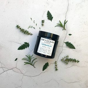 Fresh, invigorating and herbal scented with Rosemary and Thyme essential oils for mental clarity and focus, a scent that is evocative of a herbalist still room.