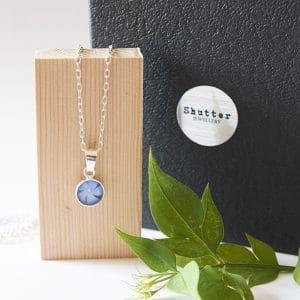 Periwinkle flower pendant